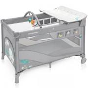 Baby Design Dream Dwupoziomowe Łóżeczko Dziecięce - Light Gray