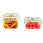 foodsaver Ffc015x-01 Contenitore Ermetico Rettangolare Set 2 Vaschette Salvafreschezza Per Sottovuoto Capacità 700 Ml + 1,2 Lt - Ffc015x-01