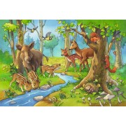 Puzzle Ravensburger - Animale Padure, 2x24 piese (09117)