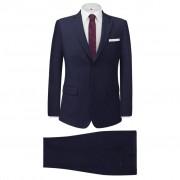 vidaXL Fato formal homem 2 pcs tamanho 46 azul-marinho