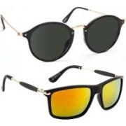 Tazzx Cat-eye, Wayfarer Sunglasses(Black, Red)