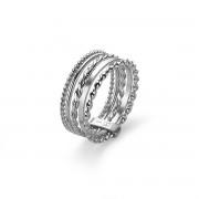 Twice As Nice Ring in zilver, 5 verschillende ringetjes 52