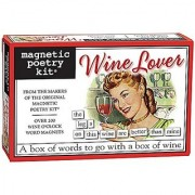 Magnetic Poetry - Wine Lover Kit - Words for Refrigerator - Write Poems and Letters on the Fridge - Made in the USA