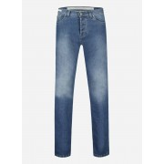 Richard j. brown Slim-fit 'Cortina' jeans in katoen-stretch Lichtblauw