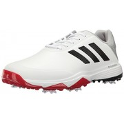 adidas Golf Men's Adipower Bounce WD Shoes, Ftwr White/Core Black/Scarlet, 10. 5 Wide US