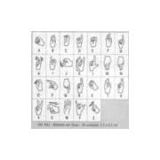 Carimbo Alfabeto em Libras - 062