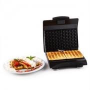 Klarstein Waffle Buddy, 700 W, 2 lemez, rozsdamentes acél, gofrisütők, piros (SHU3-WAFFLE-BUDDY-R)