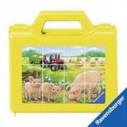 Дървен пъзел - Кубчета с животните от фермата - Ravensburger, 700127