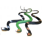 2 of These Asstorted Color Plastic 30 Inch Fake Rubber Snakes - Novelty Play Reptile Garden Snake