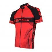 Férfi kerékpáros mez Sensor CYKLO TEAM piros / fekete 15100086