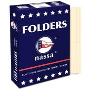 Paquete de 100 folder Nassa tamaño oficio color crema