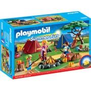 Playmobil Summer Fun, Loc de tabara cu led pentru foc
