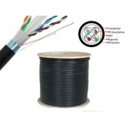 305 Meter Roll Full Copper Ethernet CAT6 FTP Outdoor Cable up to 1Gb/s - UV Protected