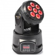 Beamz MHL-74 Moving-Head Mini Wash 7X10W DMX 12 Canaux RGBW