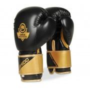 Moćne boks rukavice crne & zlatne Bushido