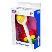 Zornaitoare pentru bebelusi Ambi Toys Soare, dezvolta dexteritatea, 17 cm
