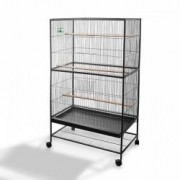 OUTIROR Cage à oiseaux de grande taille, 134 cm x 78 cm x 52cm