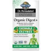 Garden of Life Enzymes Organic Digest+ Tropical Fruit Flavour Chewables - 90 Chewables