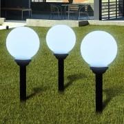 vidaXL Garden Path Solar Ball Light LED 20cm 3pcs with Ground Spike