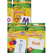 Abc Flash Cards By Crayola Set Of 3 Alphabet, Phonics, Sight Words 2