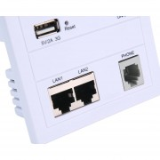 Onloon 5V 2A AP Pared Interior Embedded WiFi A 86 Panel De Router Doméstico De Carga USB Hembra Para Panel Con Interruptor