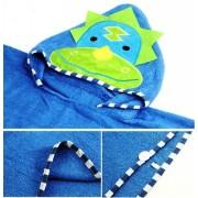 Dětská osuška, pončo, ručník s kapucí motiv dinosaurus