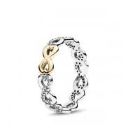 PANDORA Ring infinity liefde, Ring uit Geel Goud, Zirkonia, 190948CZ-52