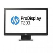 """Монитор HP ProDisplay P203 (X7R53AA), 20"""" (50.80 cm) TN панел, HD+, 5ms, 5 000 000:1, 250cd/m2, DisplayPort, VGA"""