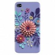 Husa silicon pentru Apple Iphone 4 Flower Artwork
