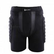 WOLFBIKE BC305 Rodillo de resistencia a caidas protectora acolchado cadera Butt Pad Shorts para patinaje de patinaje sobre nieve - Negro (M)