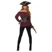 Vegaoo.es Camisa pirata bordeos lujo mujer - L