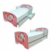 dečiji krevet sa fiokama 803 pink princess