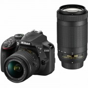 Nikon D3400 AF-P 18-55 VR 70-300 VR KIT DSLR Digitalni fotoaparat 18-55mm f/3.5-5.6 70-300mm f/4.5-6.3 VR APS-C DX VBA490K005 VBA490K005