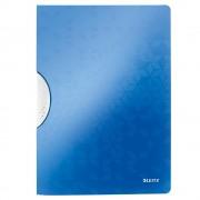 Dosar cu clip Leitz Wow ColorClip, PP, albastru metalizat