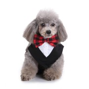 Formal Dog Tuxedo Bandana Ties Adjustable Neckerchief Pet Bow Tie for Wedding Party