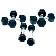 Gantere Tunturi 11TUSCL023, cauciuc, 2 x 9 Kg