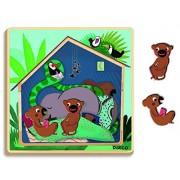 Djeco Dj01484 3 Layer Puzzle Cabana Puzzle