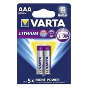 Varta PROFESSIONAL LITHIUM L92 LR03, AAA, MN2400 - комплект 2 батерии