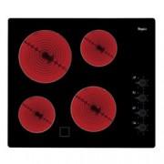 Стъклокерамичен плот за вграждане Whirlpool AKM9010/NE, 6200W, 4 нагревателни зони, индикатор за остатъчна топлина, черен
