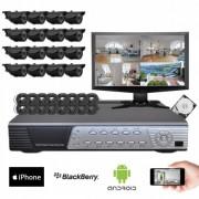 Kit vidéosurveillance 16 caméras CMOS 600 lignes