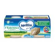 Mellin Omogeneizzati di pesce - Platessa - Confezione da 160 g ℮ (2 vasetti x 80 g)