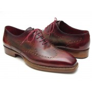 Paul Parkman Wingtip Goodyear Welted Oxford Shoes Bordeaux & Camel 087LX