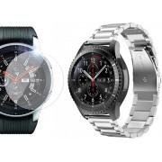 Bransoleta Stainless Steel pasek Samsung Gear S3 / watch 46mm srebrny + Szkło