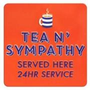 tinnen magneet - tea n' sympathy served here 24hr service