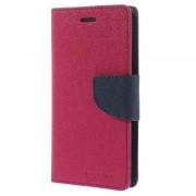 Bolsa Tipo Carteira Mercury Goospery Fancy Diary para iPhone 6, iPhone 6S - Rosa Vivo/Preto