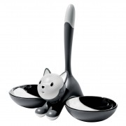 Alessi Tigrito katten voerbak grijs