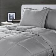 Stayclean Lotus Home Juego de cobertor Resistente a Las Manchas y al Agua, Individual, Plateado, Casual, Plateado, King, 1