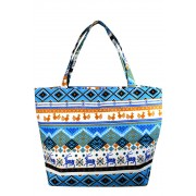 Mayers letní textilní taška s norskými vzory světle modrá