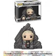 Daenerys Targaryen On Dragonstone Throne: Funko Pop X Game Of Thrones Vinyl Figure + 1 Official Trading Card Bundle [#063]