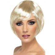 Smiffys Damespruik met kort blond haar